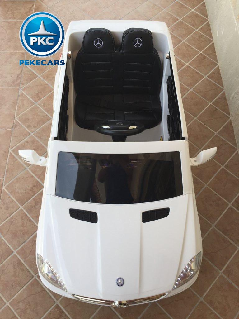 Coche electrico infantil Mercedes GL63 Blanco vista aerea