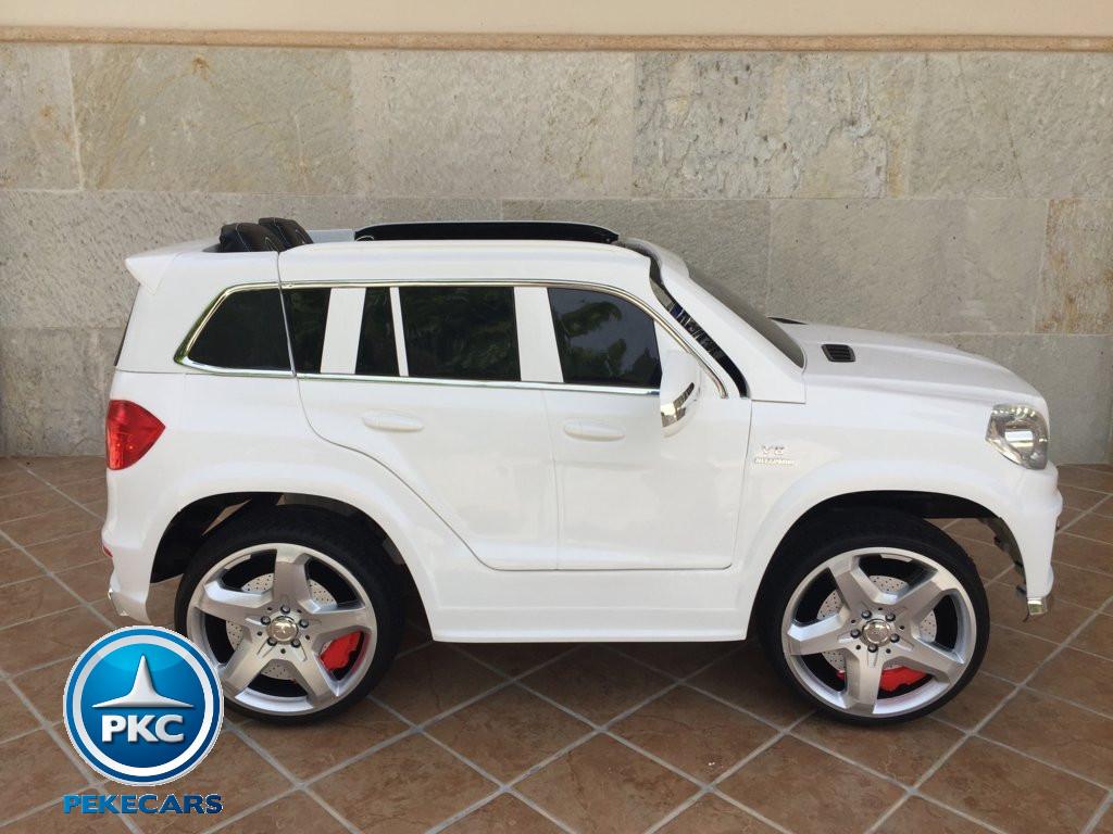 Coche electrico infantil Mercedes GL63 Blanco de lado