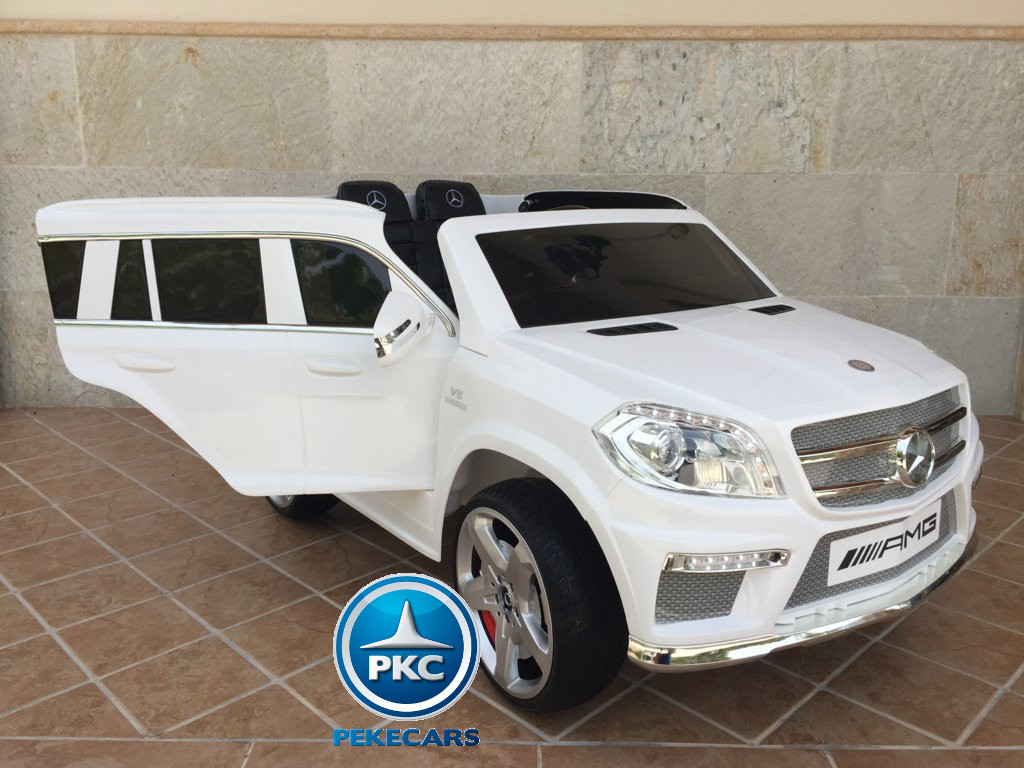 Coche electrico para niños Mercedes GL63 Blanco con apertura de puertas