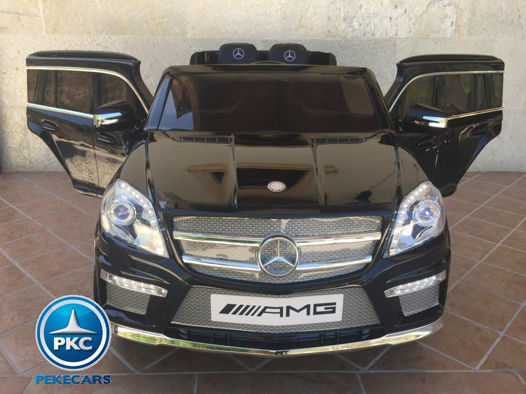 Coche electrico infantil Mercedes GL63 Negro Metalizado vista frontal