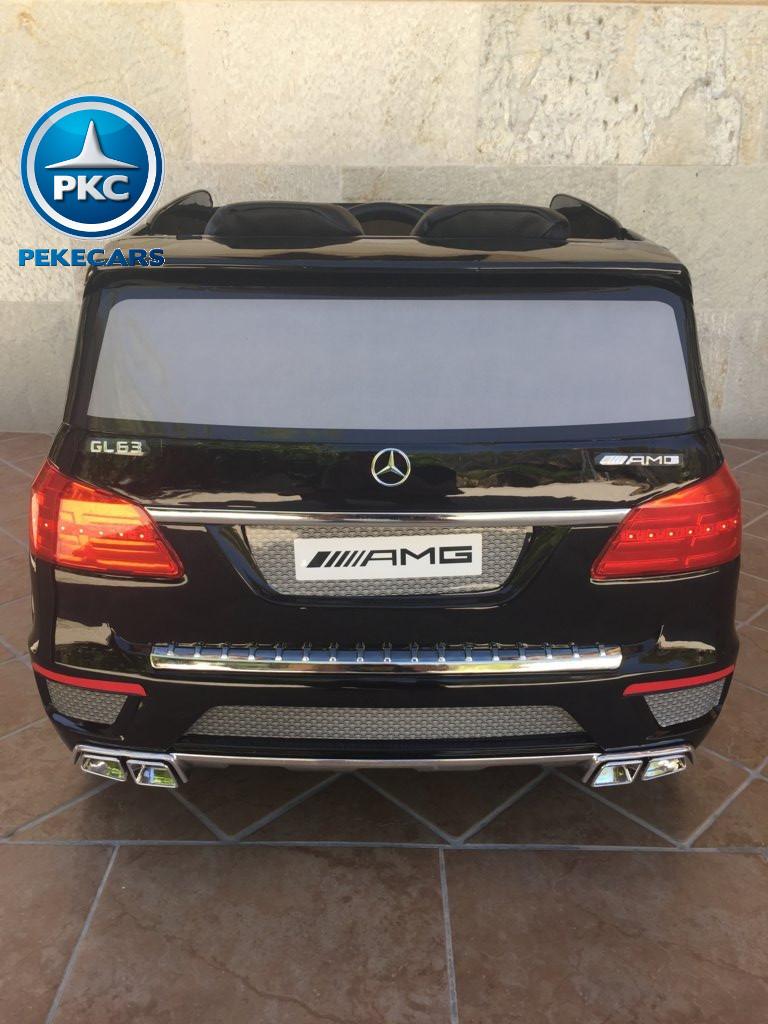 Coche electrico para niños Mercedes GL63 Negro Metalizado vista trasera
