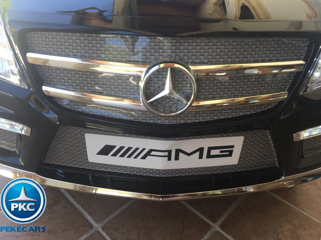 Coche electrico infantil Mercedes GL63 Negro Metalizado parrilla delantera