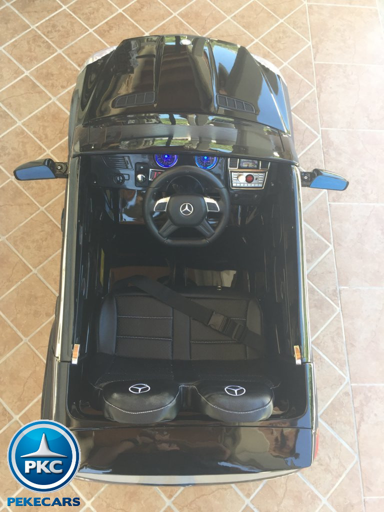 Coche electrico infantil Mercedes GL63 Negro Metalizado detalles del interior
