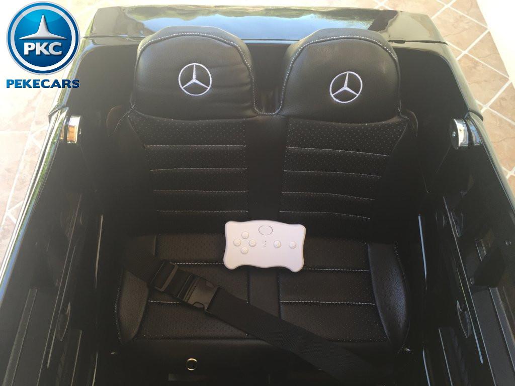 Coche electrico para niños Mercedes GL63 Negro Metalizado asiento acolchado en piel