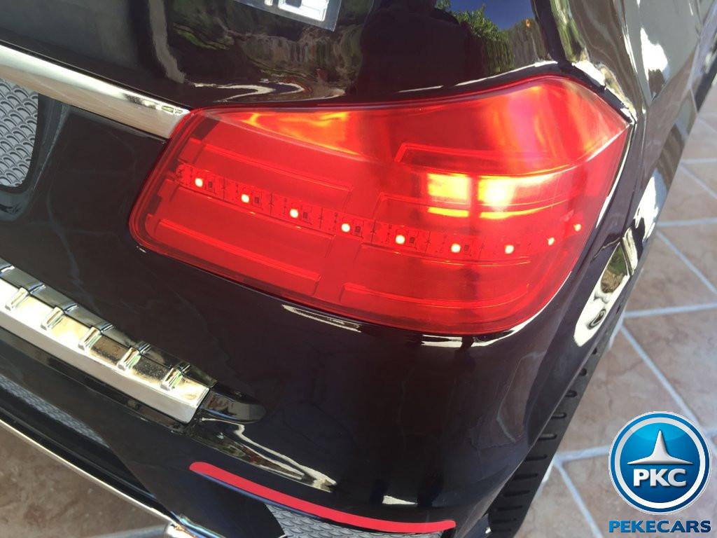 Coche electrico para niños Mercedes GL63 Negro Metalizado luces traseras
