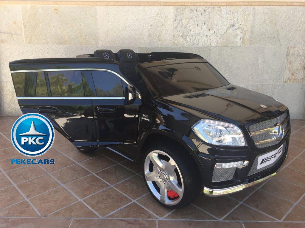 Coche electrico infantil Mercedes GL63 Negro Metalizado con apertura de puertas