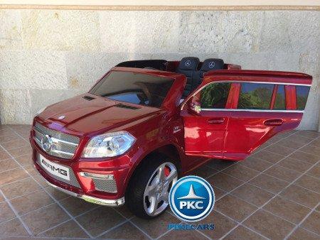 coche electrico Mercedes GL63 rojo  metalizado para niños