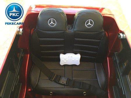 coche electrico Mercedes GL63 rojo pintado para niños asiento y mando