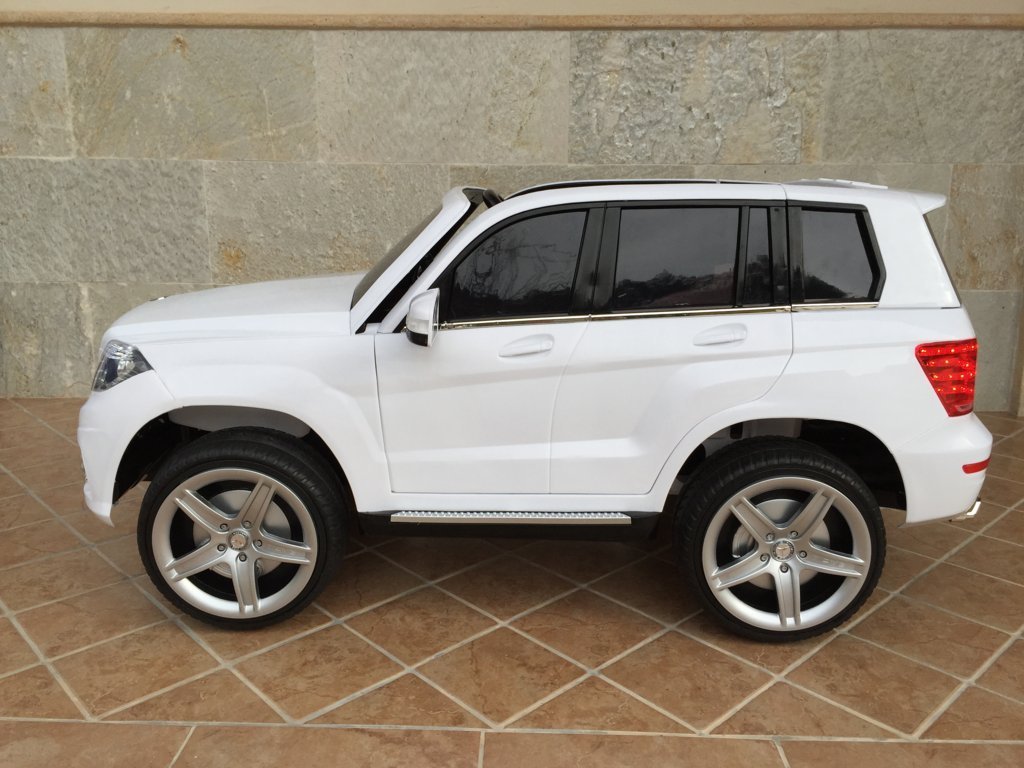 Coche electrico infantil Mercedes GLK-350 Blanco lateral
