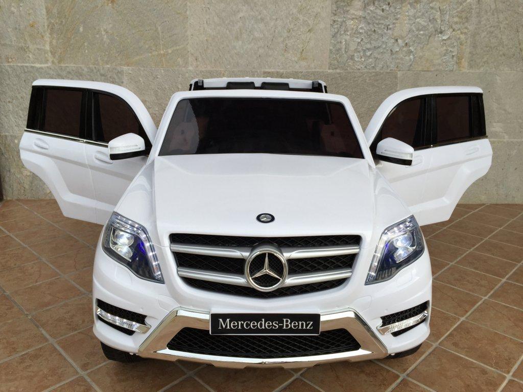 coche electrico Mercedes GLK350 blanco para niños vista delantera