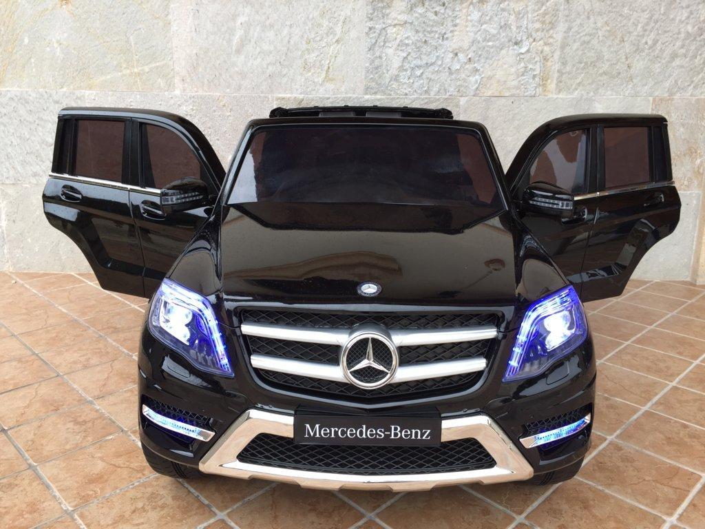 Coche electrico infantil Mercedes GLK-350 Negro Metalizado vista frontal