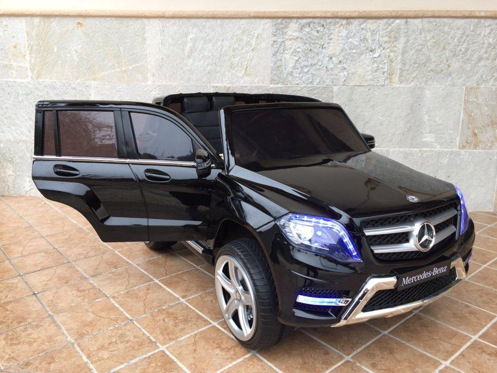 Coche electrico para niños Mercedes GLK-350 Negro Metalizado con apertura de puertas