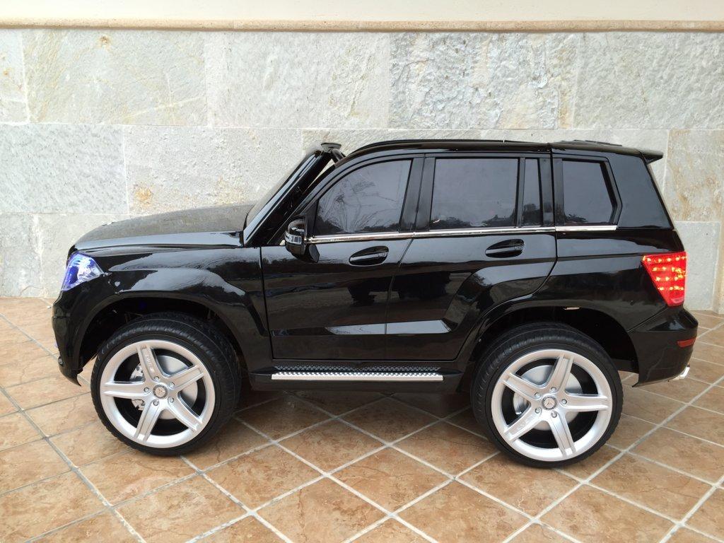 Coche electrico infantil Mercedes GLK-350 Negro Metalizado lateral