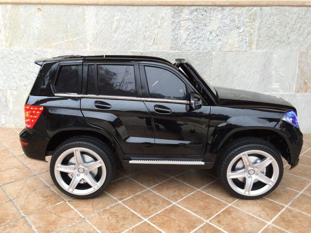 Coche electrico para niños Mercedes GLK-350 Negro Metalizado lateral