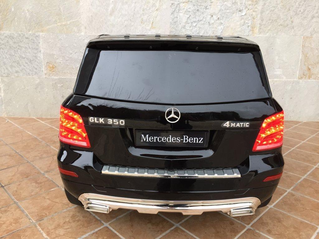 Coche electrico infantil Mercedes GLK-350 Negro Metalizado vista trasera