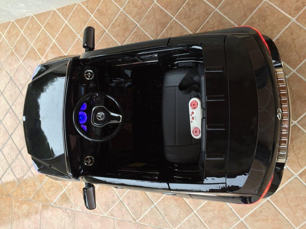 Coche electrico para niños Mercedes GLK-350 Negro Metalizado interior