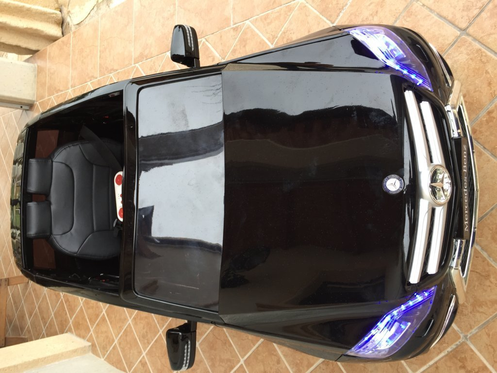 Coche electrico infantil Mercedes GLK-350 Negro Metalizado frente