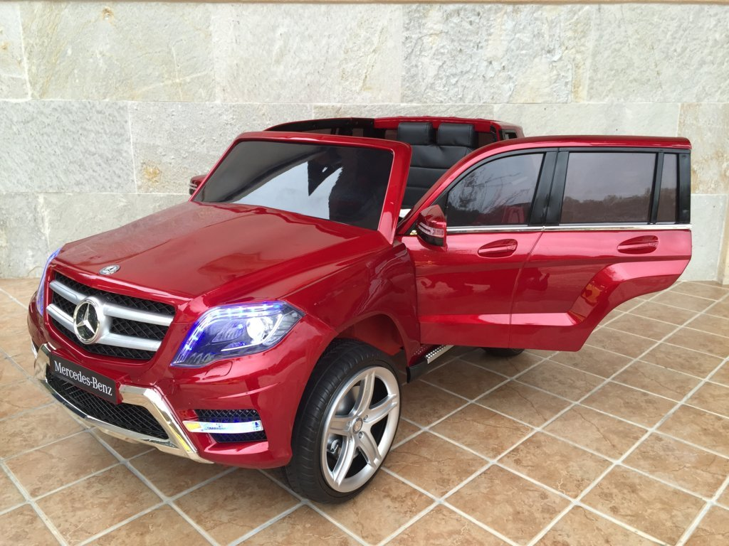 Coche electrico para niños Mercedes GLK-350 Rojo Metalizado vista principal