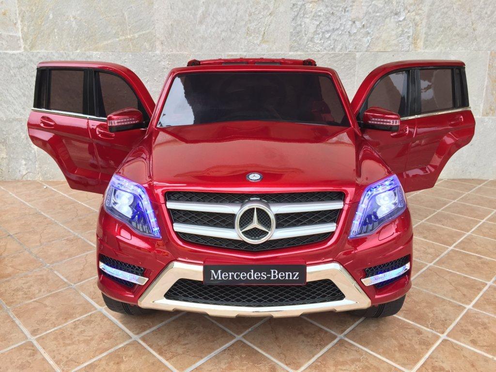 Coche electrico infantil Mercedes GLK-350 Rojo Metalizado vista frontal