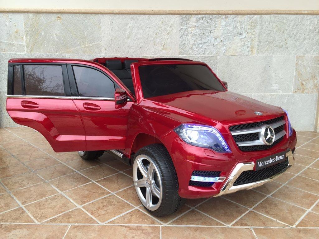 Coche electrico para niños Mercedes GLK-350 Rojo Metalizado con apertura de puertas