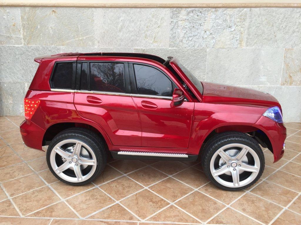 Coche electrico para niños Mercedes GLK-350 Rojo Metalizado lateral