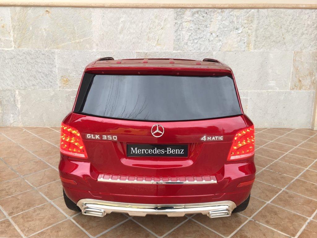Coche electrico infantil Mercedes GLK-350 Rojo Metalizado vista trasera