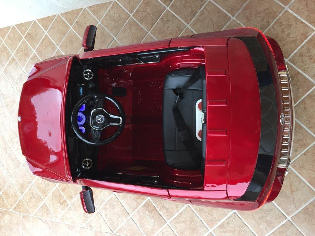 Coche electrico para niños Mercedes GLK-350 Rojo Metalizado interior