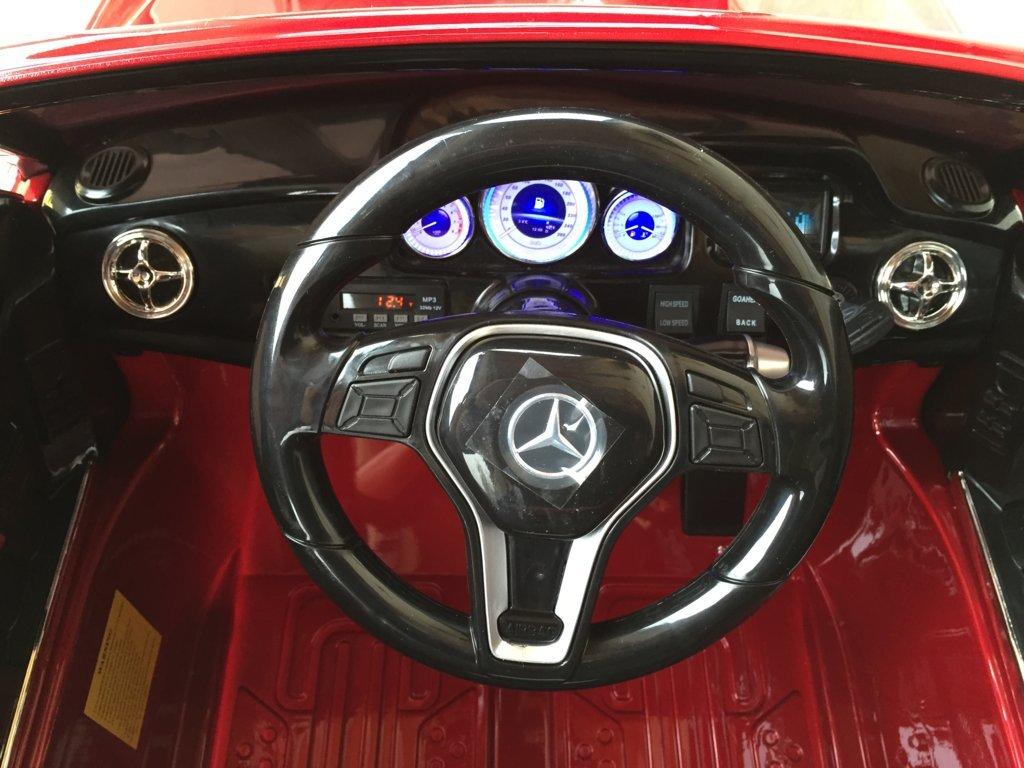 Coche electrico infantil Mercedes GLK-350 Rojo Metalizado volante