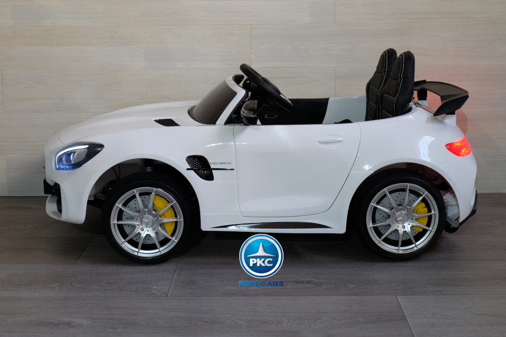 Coche electrico infantil Mercedes GTR 2 plazas Blanco