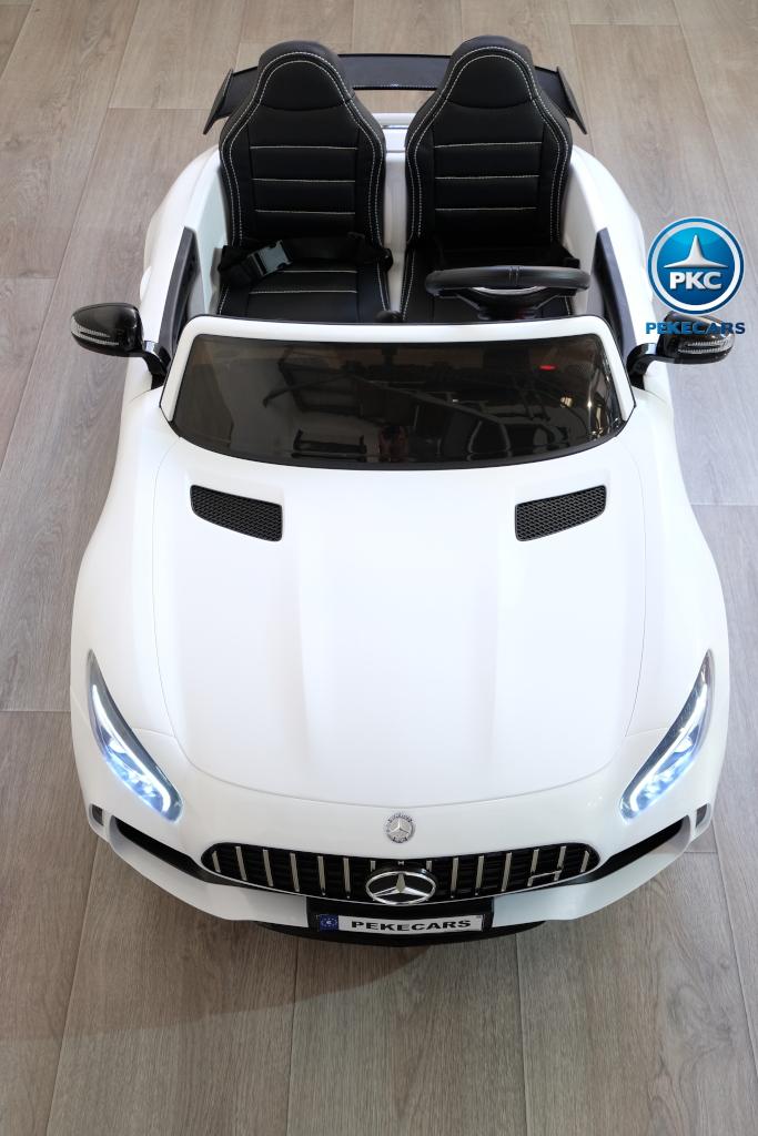 Coche electrico para niños Mercedes GTR 2 plazas Blanco capo