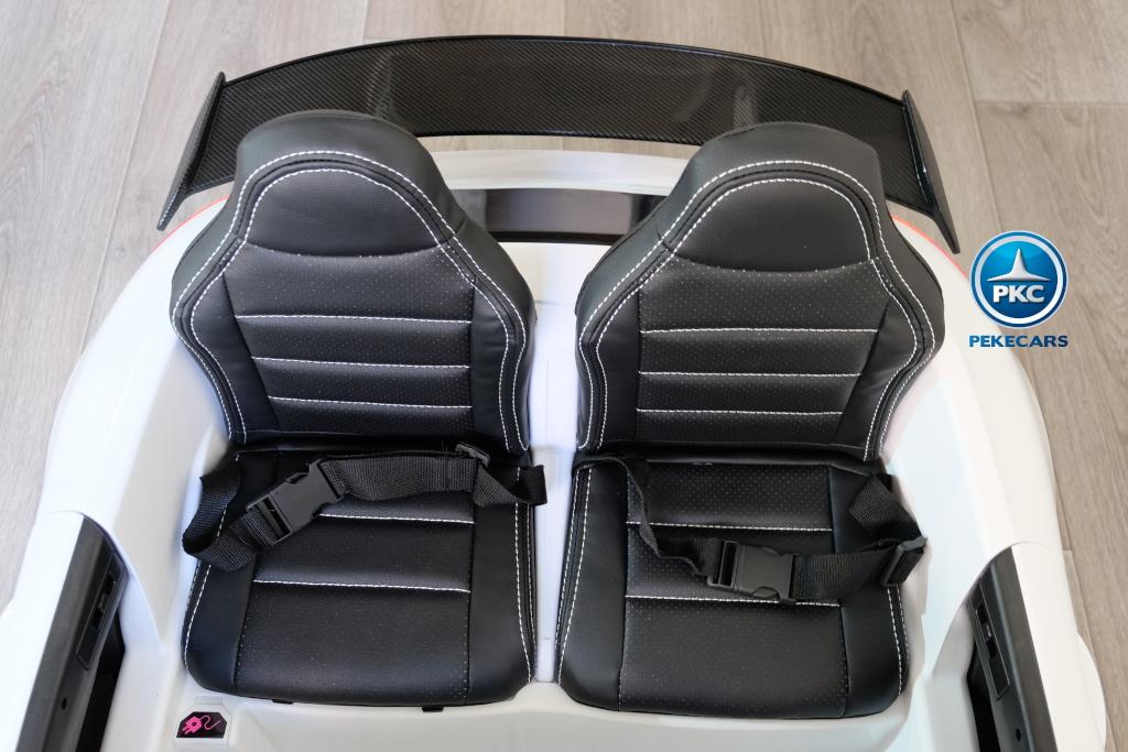Coche electrico infantil Mercedes GTR 2 plazas Blanco dos asientos