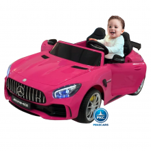 Coche electrico para niños Mercedes GTR 2 plazas Blanco vista principal