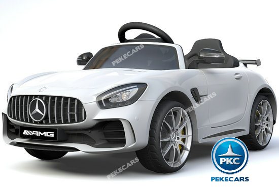 Coche electrico para niños Mercedes GTR 12V Blanco vista principal