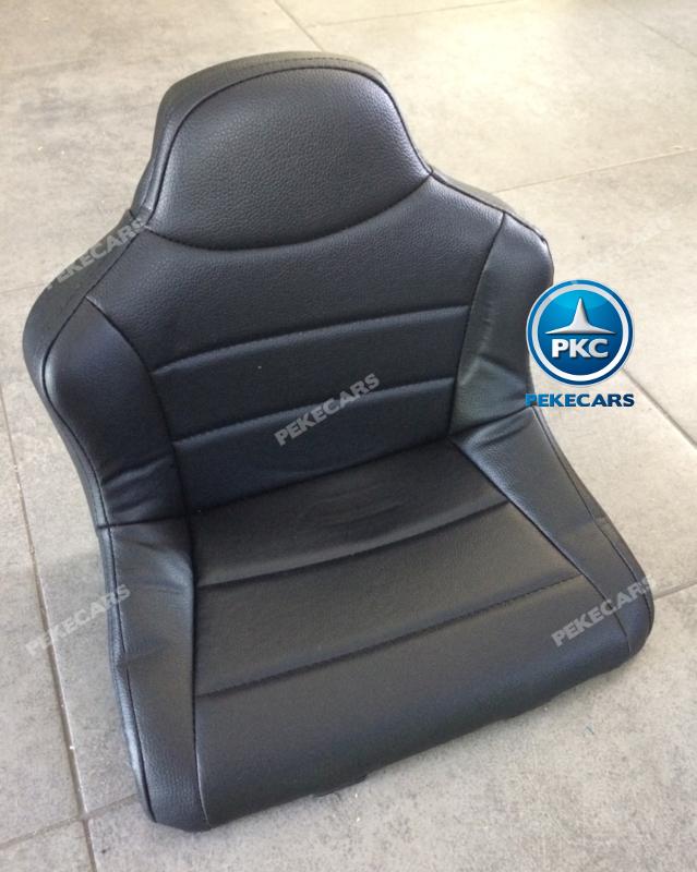 Coche electrico infantil Mercedes GTR 12V Blanco asiento acolchado en piel