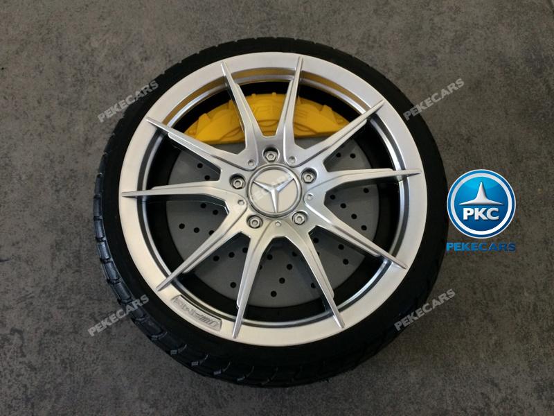 Coche electrico infantil Mercedes GTR 12V Blanco