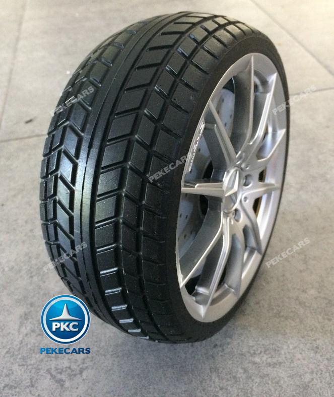 Coche electrico para niños Mercedes GTR 12V Blanco ruedas de caucho antipinchazos