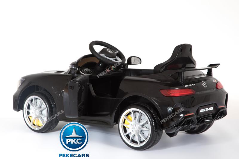 Coche electrico para niños Mercedes GTR 12V Negro con apertura de puertas