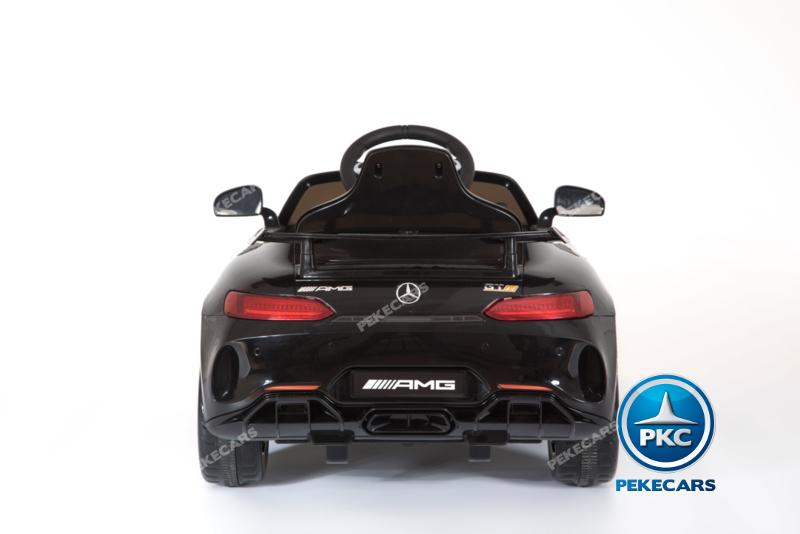 Coche electrico infantil Mercedes GTR 12V Negro vista trasera