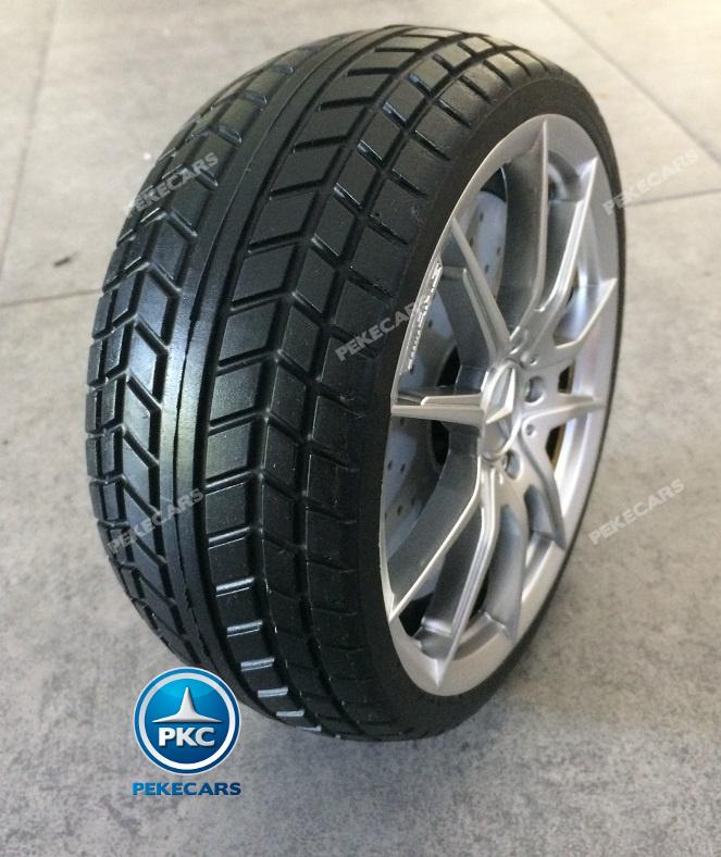 Coche electrico infantil Mercedes GTR 12V Negro asiento acolchado en piel