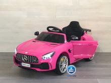 Coche electrico para niños Mercedes GTR 12V Rosa vista principal