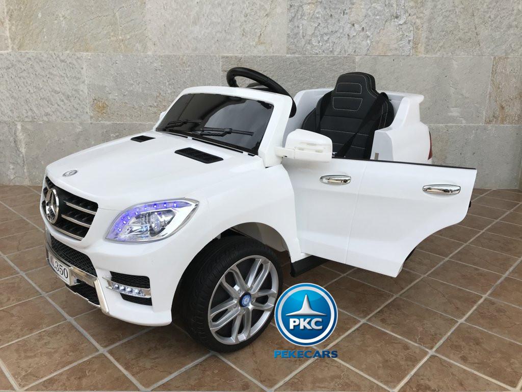 Coche electrico para niños Mercedes ML-350 Blanco vista principal