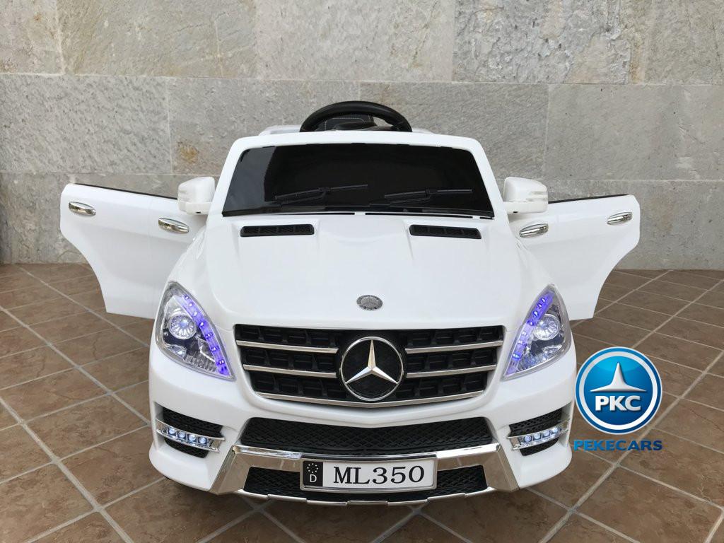 Coche electrico para niños Mercedes ML-350 Blanco frontal