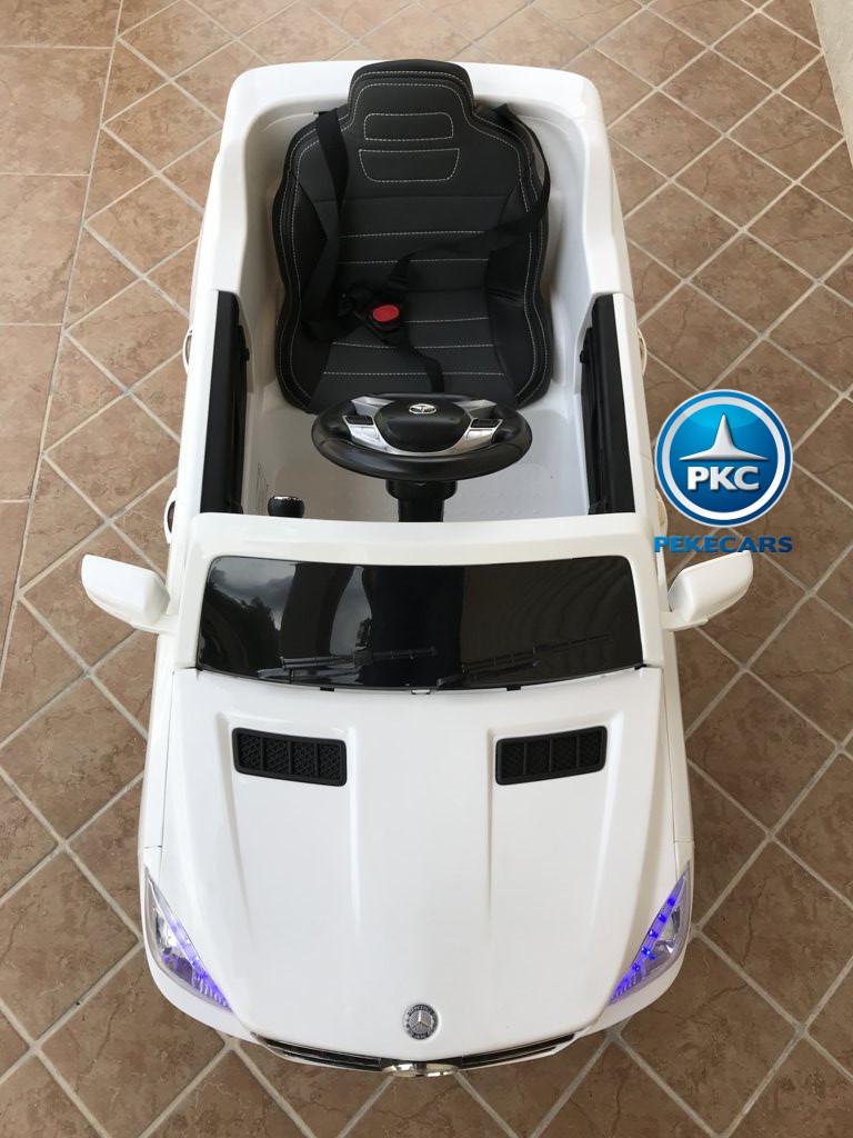 Coche electrico para niños Mercedes ML-350 Blanco capo