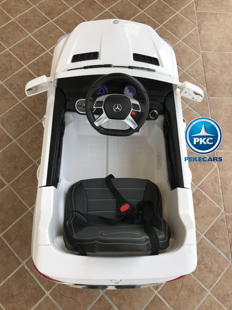Coche electrico infantil Mercedes ML-350 Blanco detalles del interior