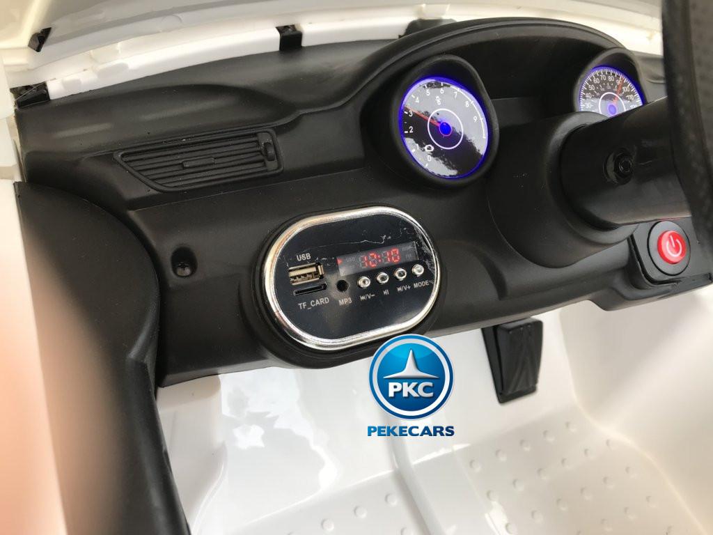 Coche electrico infantil Mercedes ML-350 Blanco salpicadero