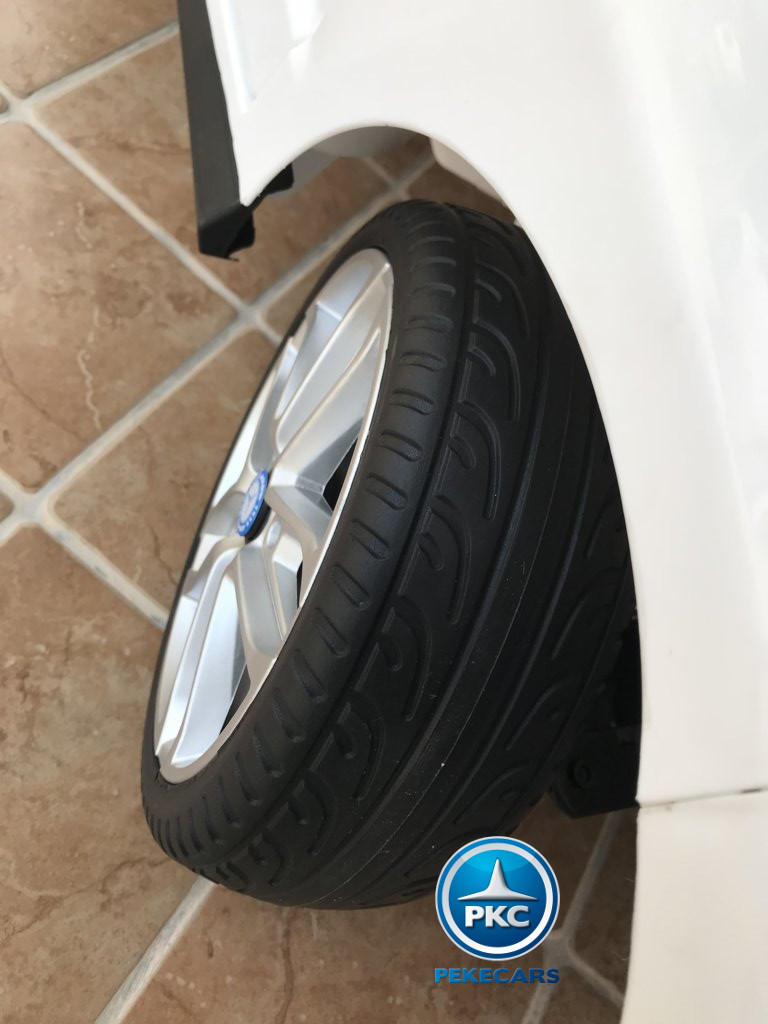 Coche electrico para niños Mercedes ML-350 Blanco ruedas de caucho antipinchazos