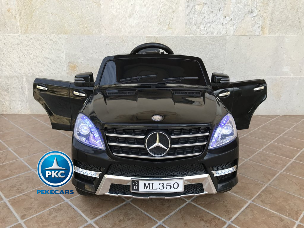 Coche electrico para niños Mercedes ML-350 Negro frontal