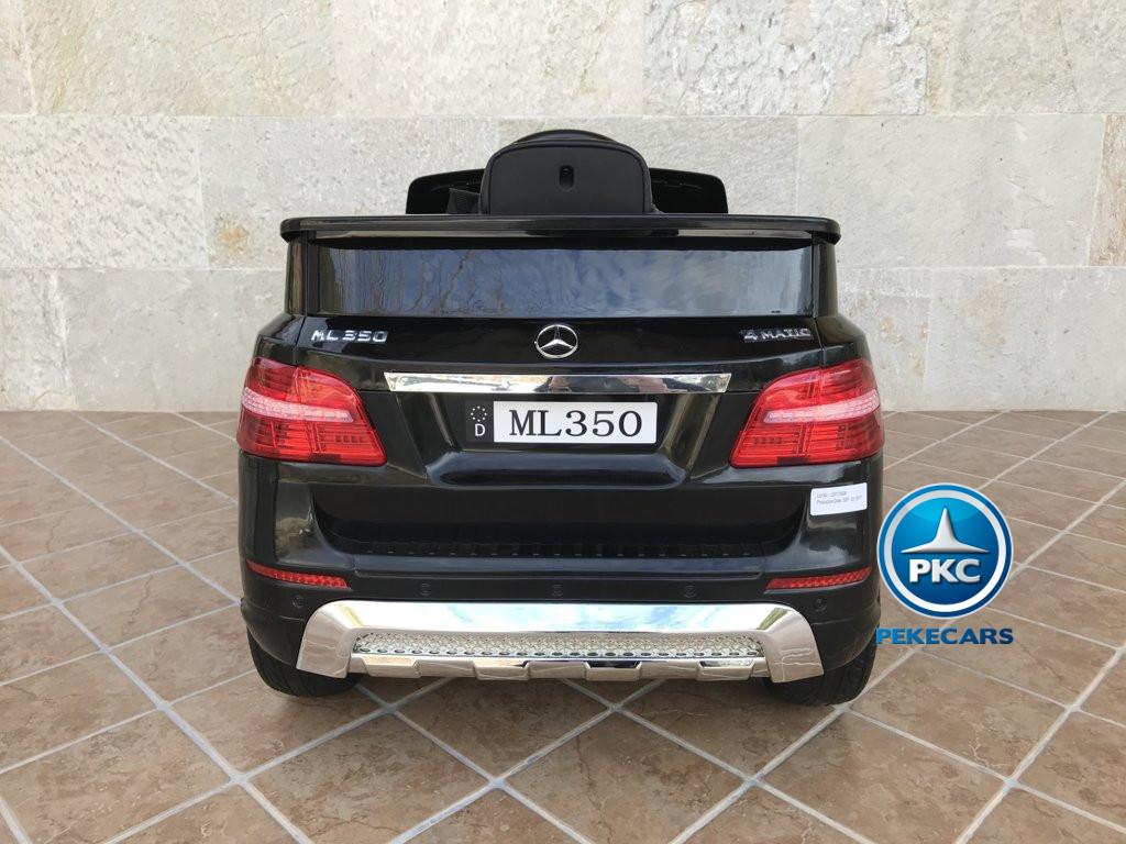 Coche electrico infantil Mercedes ML-350 Negro vista trasera
