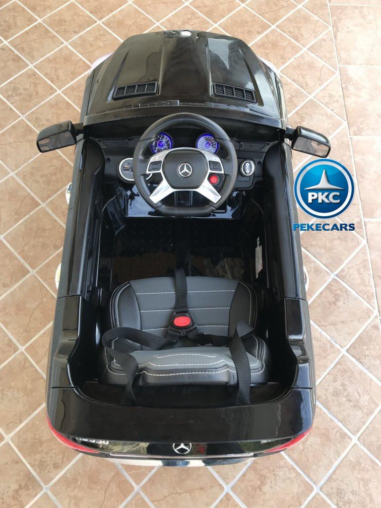Coche electrico para niños Mercedes ML-350 Negro detalles del interior