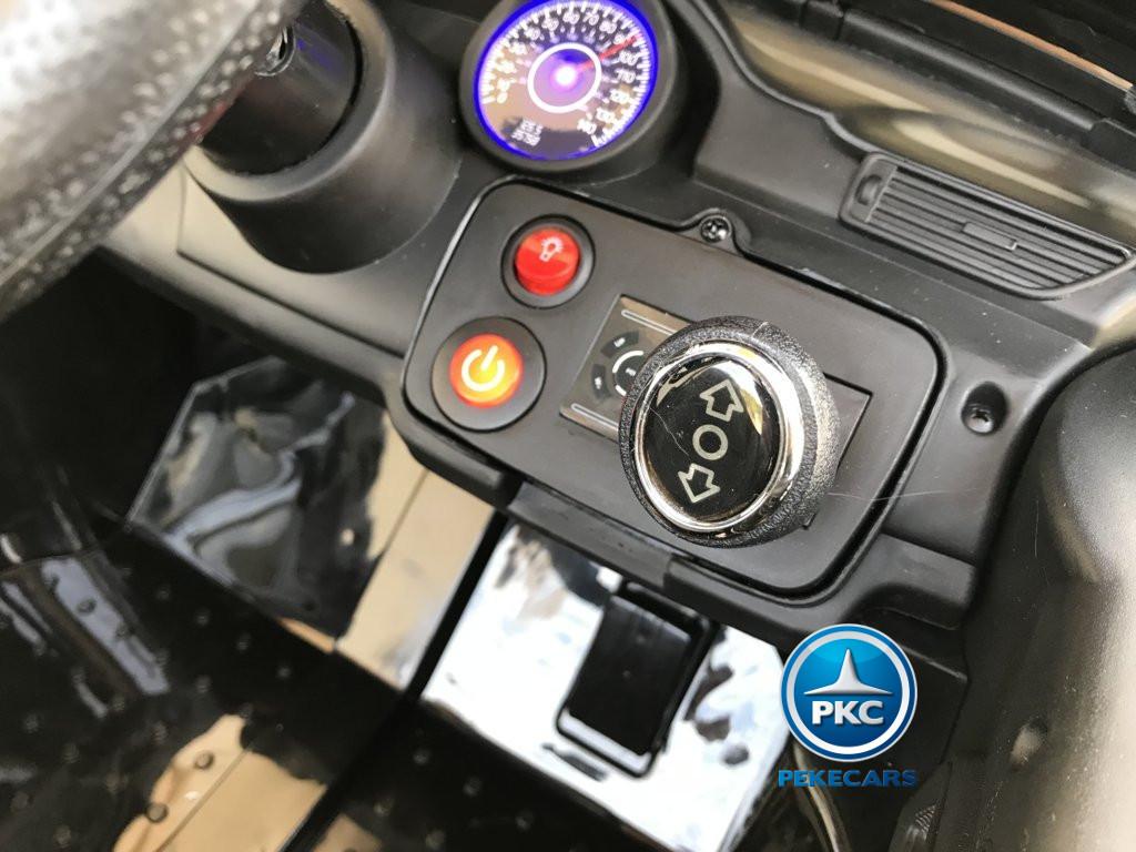 Coche electrico para niños Mercedes ML-350 Negro boton de encendido